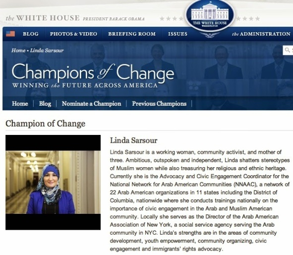 Image result for pics of linda sarsour with obama